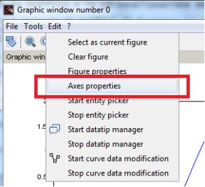 menu axes properties